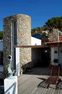 Villa Delfi terrazzo con torre
